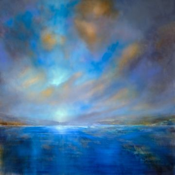 Expanses of blue of artist Annette Schmucker as framed image