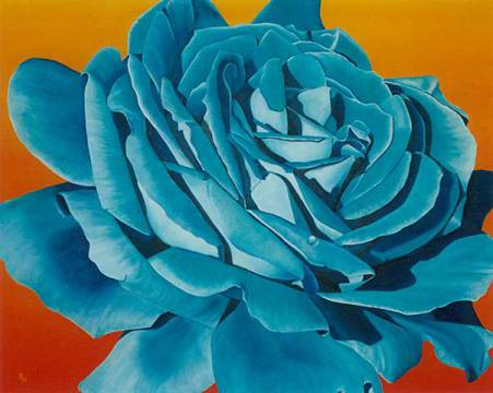 Fine Art Reproduction: Birgitt Wolny, Blaue Rose