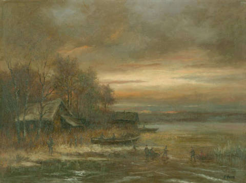 Fine Art Reproduction: Josef Thoma, Haus am See
