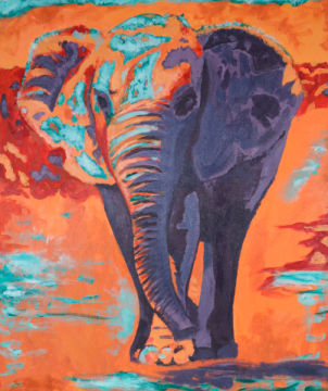 Kunstdruck: Sabine May, Elefant