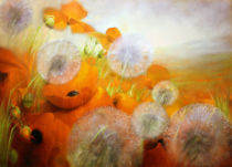 Annette Schmucker - Poppy meadow with dandelions
