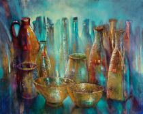 Annette Schmucker - Still life with golden bowls