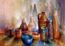Annette Schmucker - Still life with blue bowl