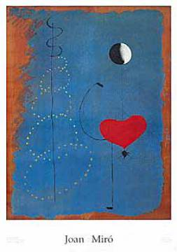 Ballarina II, 1925 of artist Joan Miró as framed image