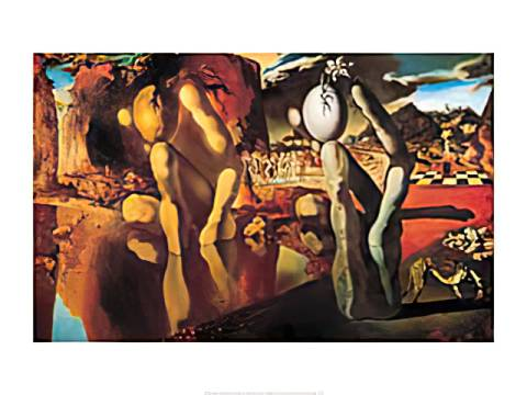 Metamorphosis Of Narcissus, 1936-1937 of artist Salvador Dalí as framed image