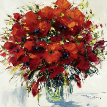 klassischer Kunstdruck: Christian Nesvadba, Poppies in Red