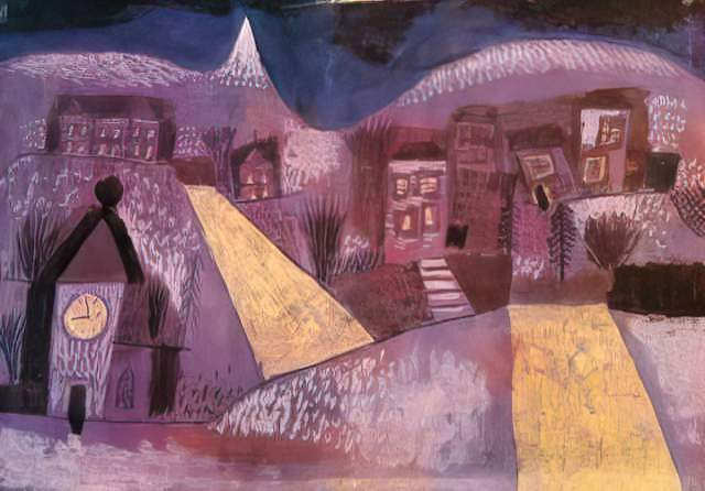 Paul Klee Winterlandschaft Kunstdruck Leinwandbild Gerahmtes Bild