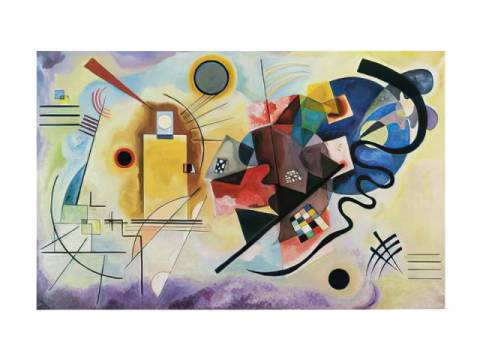 Jaune, Rouge, Bleu, 1925 of artist Wassily Kandinsky as framed image