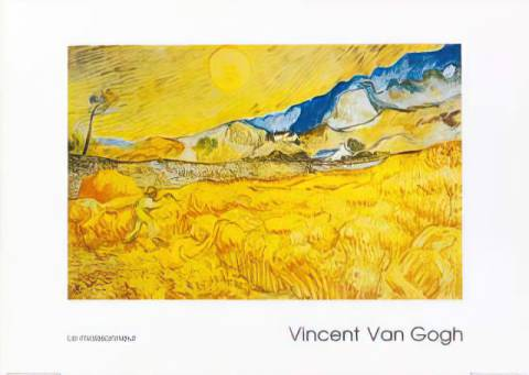 Il mietitore of artist Vincent van Gogh as framed image
