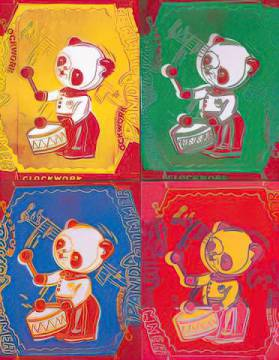 Art Print: Andy Warhol, Four Pandas, 1983