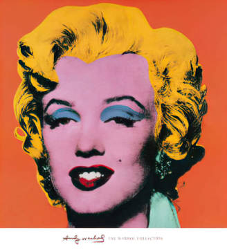 Art Print: Andy Warhol, Shot - Orange Marilyn
