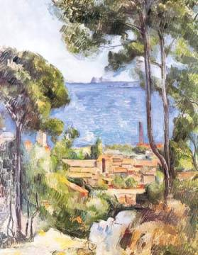 L`Estaque of artist Paul Cézanne as framed image