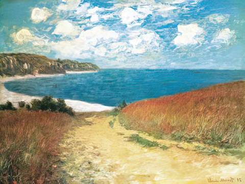 klassischer Kunstdruck: Claude Monet, Meadow Road to Pourville, 1882