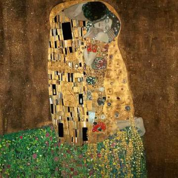 Art Print: Gustav Klimt, The Kiss