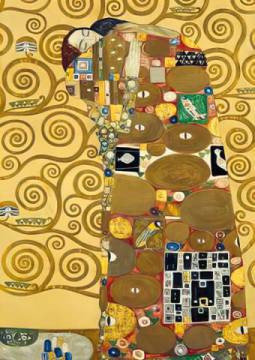 gustav klimt die erf llung kunstdruck leinwandbild gerahmtes bild. Black Bedroom Furniture Sets. Home Design Ideas