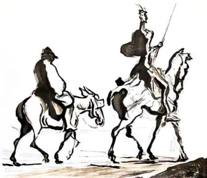 Kunstdruck: Honore Daumier, Don Quixote