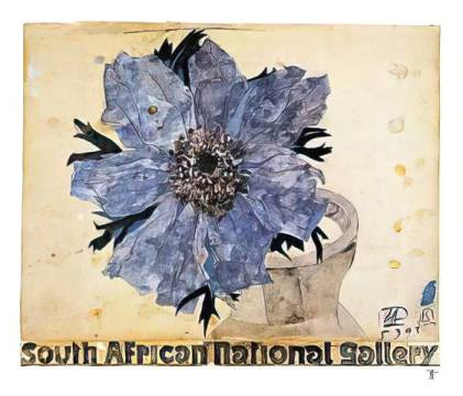 South African National 159 of artist Horst Janssen as framed image