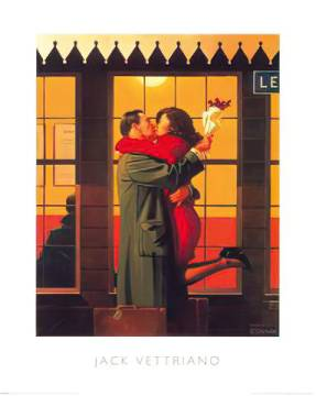 klassischer Kunstdruck: Jack Vettriano, Back Where You Belong