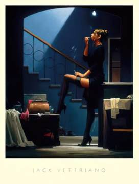 Dance for Money of artist Jack Vettriano as framed image