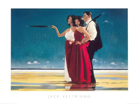 klassischer Kunstdruck: Jack Vettriano, The Missing Man I