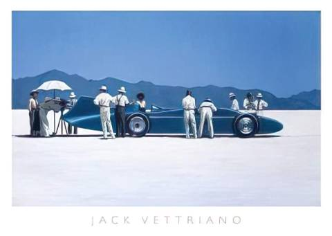 Bluebird at Bonneville of artist Jack Vettriano as framed image