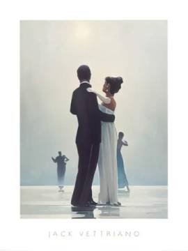 Dance Me To The End Of Love of artist Jack Vettriano as framed image