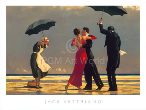 Art Print: Jack Vettriano, The Singing Butler