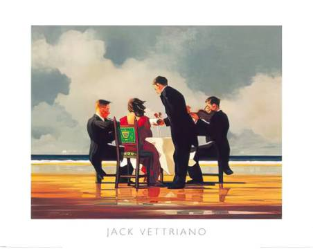 Elegy for The Dead Admiral of artist Jack Vettriano as framed image