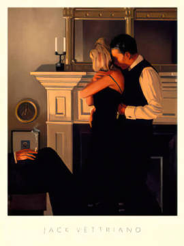 Beautiful Losers II (Detail) of artist Jack Vettriano as framed image