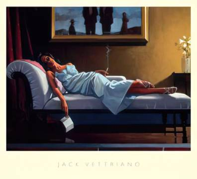 The Letter of artist Jack Vettriano as framed image