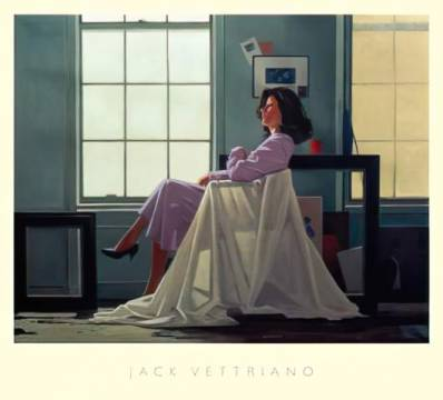 klassischer Kunstdruck: Jack Vettriano, Winter Light and Lavender