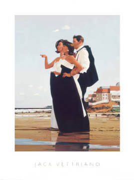 klassischer Kunstdruck: Jack Vettriano, The Missing Man II