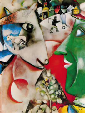 Art Print: Marc Chagall, I and the village, 1911