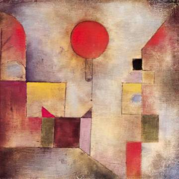 Kunstdruck: Paul Klee, Roter Ballon