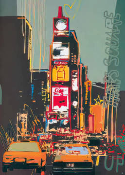 Times Square of artist Rod Neer as framed image