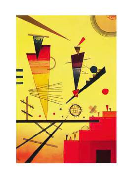 Structure joyeuse, 1926 of artist Wassily Kandinsky as framed image