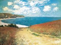 Claude Monet - Meadow Road to Pourville, 1882