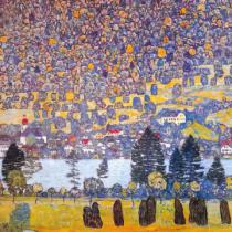 Gustav Klimt - Waldabhang in Unterach am Atters