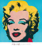 Shot Cyan Marilyn of Andy Warhol