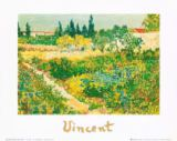 Garden with flowers von Vincent van Gogh