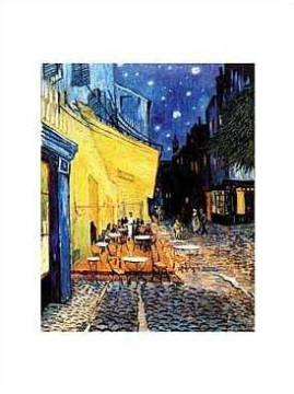 The Café Terrace at Night of artist Vincent van Gogh as framed image