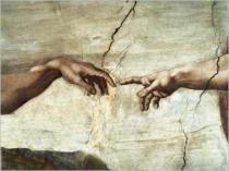 Michelangelo Buonarroti - The creation of Adam (detail)