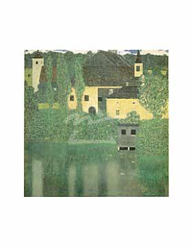 Schloss Unterach on the Attersea of artist Gustav Klimt as framed image