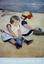 Mary Stevenson Cassatt - Children Playing on the Beach