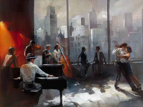 Kunstdruck: Willem Haenraets, Room with a View II