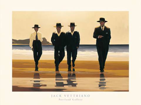 klassischer Kunstdruck: Jack Vettriano, The Billy Boys