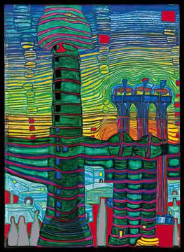 The end of Greece of artist Friedensreich Hundertwasser as framed image