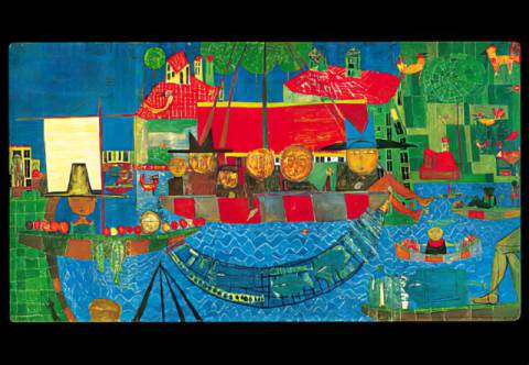 The miraculous drought of artist Friedensreich Hundertwasser as framed image