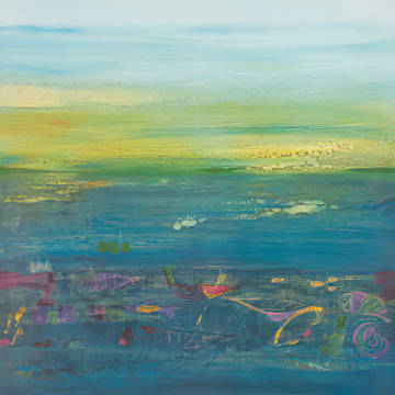 Fine Art Reproduction: Rose Richter-Armgart, Blue Landscape