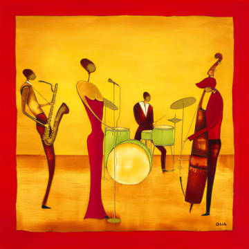 Art Print, Art Card: Ona, Jazz Band